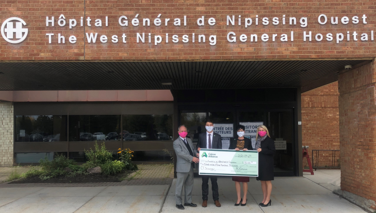 $100,000 donation to the West Nipissing General Hospital